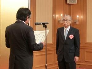 野坂宏先生表彰